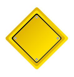 emblem warning notice in blank vector image vector image