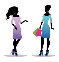 girls vector image vector image