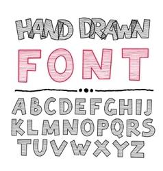 Hand Drawn Abc vector image vector image