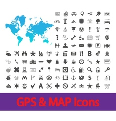Navigation map icons vector image