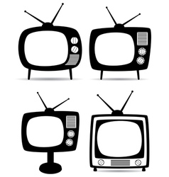 retro tv set vector image vector image