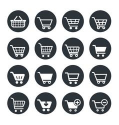 shopping carts icon set vector image
