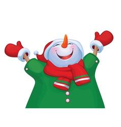 snowman costume vector image vector image