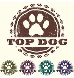 Top dog vector