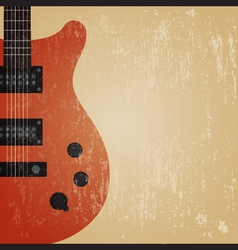 241grunge electric guitar vector image