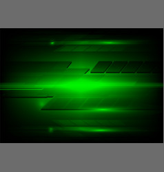 abstract dark green and light technology design vector image