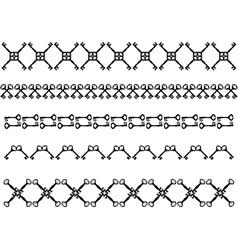 Antique keys strokes vector image vector image