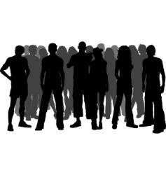 crowd of people vector image vector image