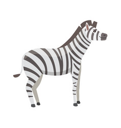 happy cut cartoon zebra isolated vector image vector image