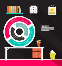 Infographics Circle Label vector image