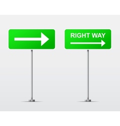 Right Way street road sign isolated vector image vector image