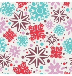 simple handmade snowflakes seamless pattern vector image vector image