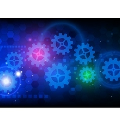 Abstract engineering hi-tech technology background vector image