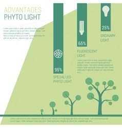 Advantages of phyto light vector image vector image