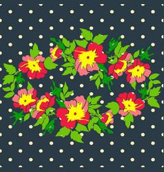 Hand drawn wreath flower roses tropical vintage vector