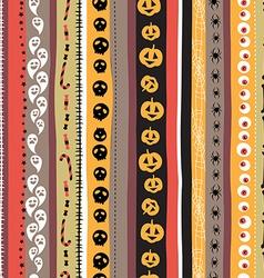 Seamless pattern Vintage Happy Halloween Flat vector image