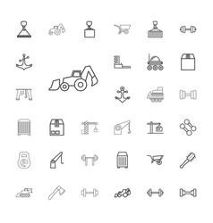 33 heavy icons vector