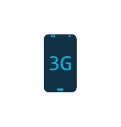 3g smartphone icon colored symbol premium quality vector image