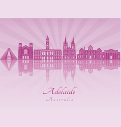 adelaide v2 skyline in purple radiant orchid vector image