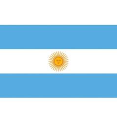 Argentinian flag vector