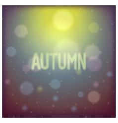 Autumn shiny glare background vector