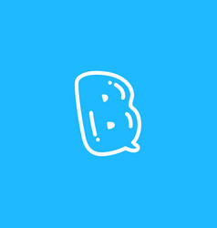 b letter chat bubble talk vector image