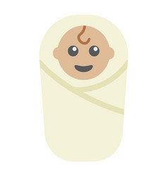 baby birth flat icon kid and newborn vector image