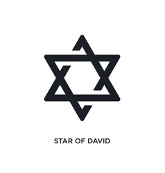 black star david isolated icon simple element vector image