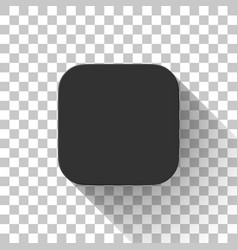 Black technology app icon blank template vector