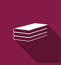 books icon with long shadow vector image