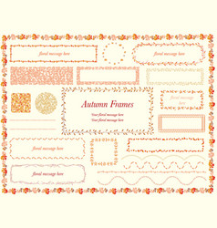 botanical frames in autumn colors vector image