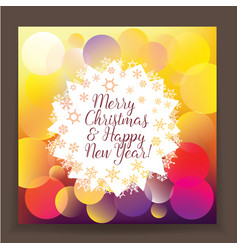 Bright poster new year and christma vector