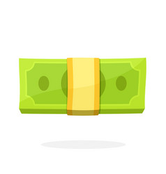 bundle paper money in flat style vector image
