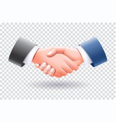 business people handshake isolate vector image
