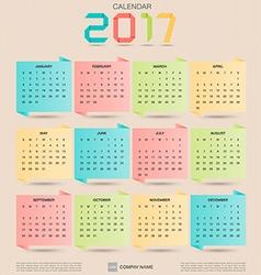 Calendar 2017 5 vector