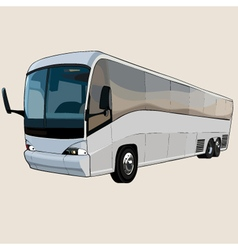 Cartoon big bus with eyes vector