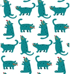 Cartoon Monster Dogs Seamless Pattern vector image vector image