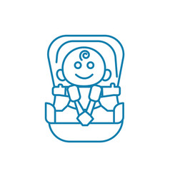 child car seat linear icon concept child car seat vector image