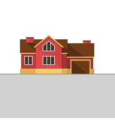 Classic English House Facade Red Brick Home vector image