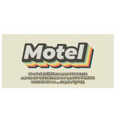 Colorful vintage 3d font styles design template vector
