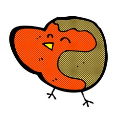 comic cartoon robin vector image