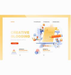 Creative blogging web page header vector