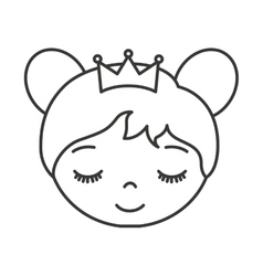 Cute princess character icon vector