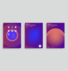 design templates with vibrant gradient shapes vector image