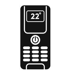 Digital climate remote control icon simple style vector