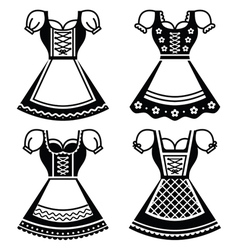Dirndl - traditional dress worn in Germany vector image