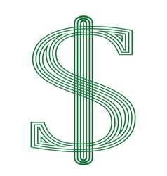 dollar usa currency symbol icon striped vector image