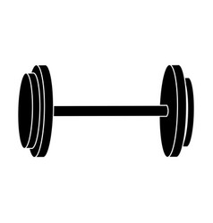 Dumbbell weight gym equipment image silhouette vector