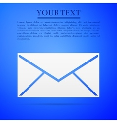 Envelope flat icon on blue background Adobe vector