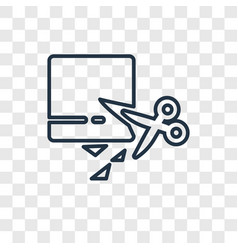 Extend concept linear icon isolated on vector